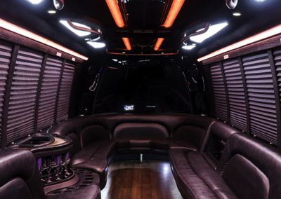 25 Person Ford Limo Bus Interior